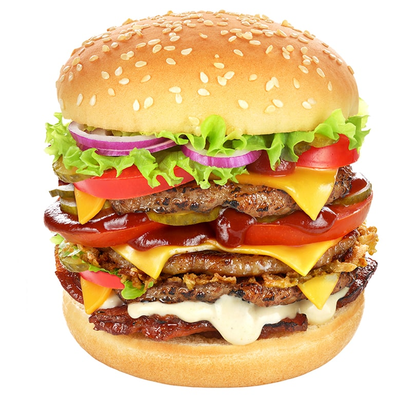 very big hamburger isolated on white DT5R3A2