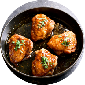 Sweet and spicy honey grilled chicken thighs 1