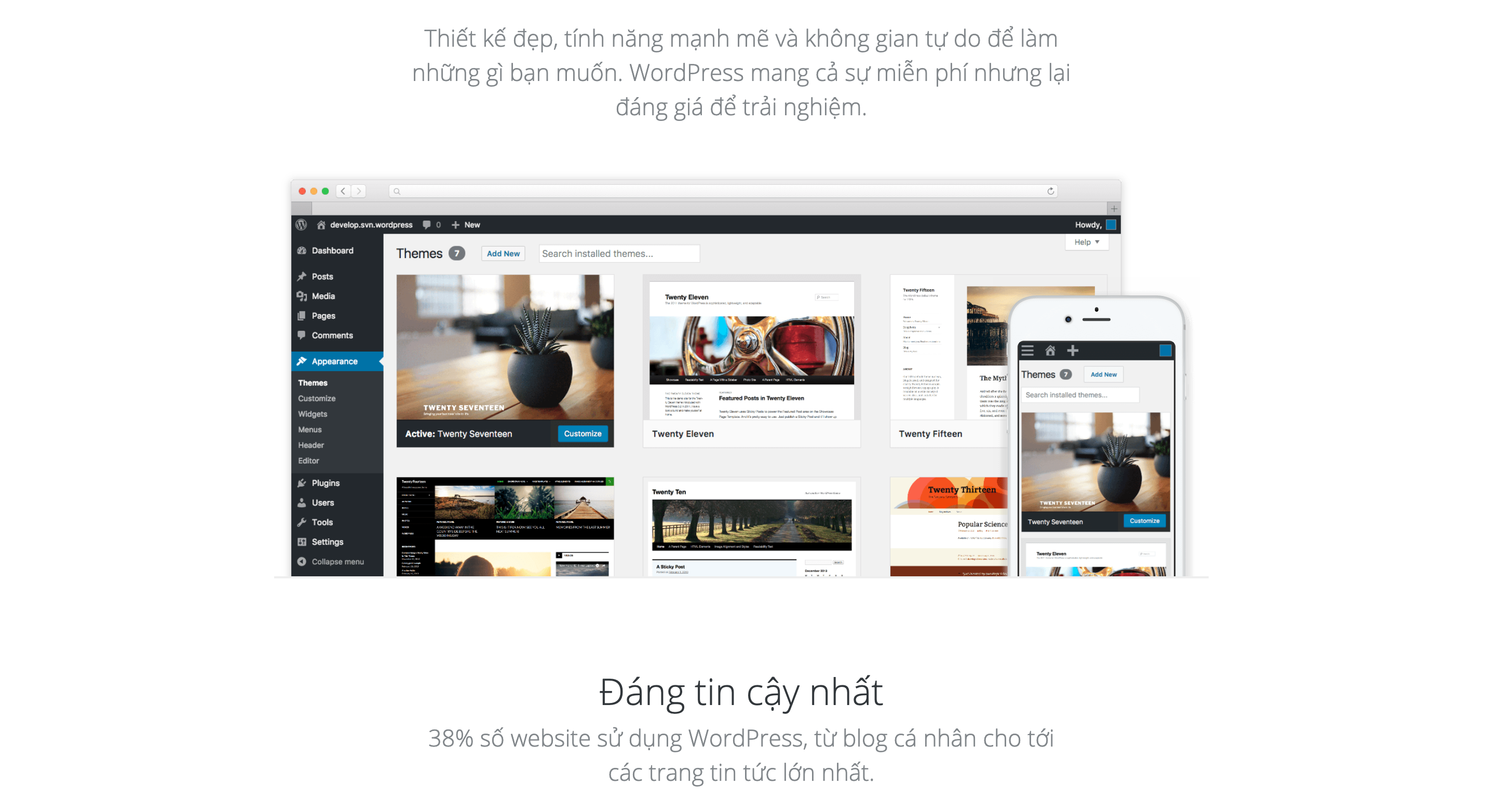 Website thiết kế landing page miễn phí